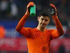 Courtois could soon be leaving Chelsea. AFP