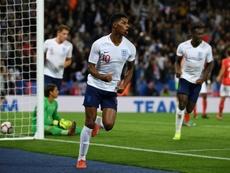 Marcus Rashford was pleased to be England's matchwinner against Switzerland. AFP