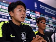 Lee Seung-Woo habló del Barça y la victoria ante Alemania. AFP