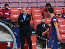 Ronald Koeman podría ser sancionado de dos a 12 partidos. AFP