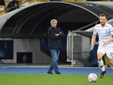 El Dinamo Kiev cumple antes de visitar al Barça. AFP/Archivo