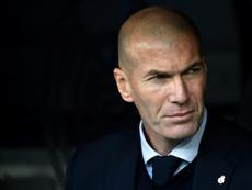 Zidane falou em coletiva de imprensa. AFP