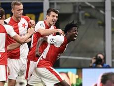 El Slavia sigue de dulce, y el Sparta lo ha pagado. AFP/Archivo