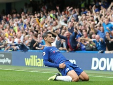 Morata put Chelsea in control. AFP