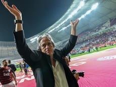 Jorge Jesus é envolvido em rumores sobre possível saída do Flamengo. AFP
