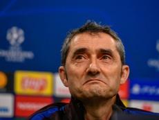 Alba, énervé après Valverde. AFP