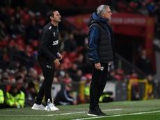 Mourinho desveló lo que le dijo a Lampard durante el Tottenham-Chelsea. AFP