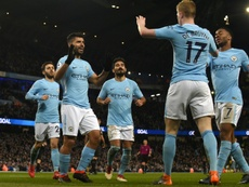Aguero and De Bruyne have been ruled out of City's trip to Chelsea. AFP