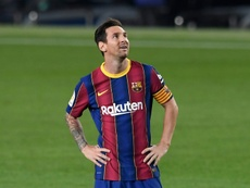 Messi appelle les barcelonais à l'union. AFP