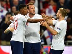 England took the lead against Spain through Marcus Rashford on Saturday. AFP