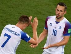 Iceland lost 2-1. AFP