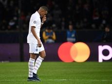 Mbappé será desfalque do PSG neste sábado. AFP