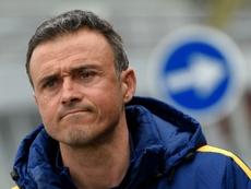 Luis Enrique no quiere escuchar hablar del partido de Anoeta de la temporada pasada. AFP