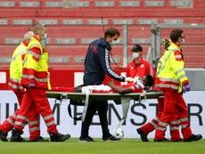 Taiwo Awoniyi sofreu choque de cabeça na Bundesliga. AFP