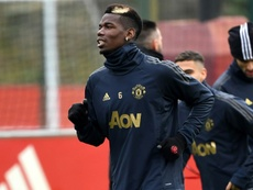 Pogba is the only United player on the team of the year shortlist. AFP