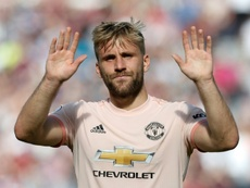 Shaw has turned his Manchester United career around. AFP