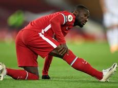 Naby Keïta blessé contre Leicester. afp