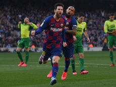 Messi has got a huge 5 goal advantage at the top of the 2019-20 La Liga top scorers list. AFP