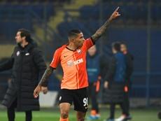 El Shakhtar rescató un empate al final. AFP