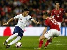 Jadon Sancho podría volver a Inglaterra. AFP