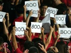 La FIFA multa a Hong Kong por pitar el himno de China ante Irán. AFP