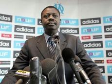 Olympique de Marseille's tribute to Pape Diouf. AFP
