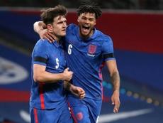 Sancho anotó el segundo para Inglaterra. AFP