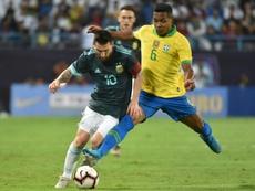 Messi preferiu não comentar as críticas. AFP