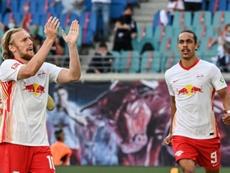 Tablas entre dos aspirantes a Champions entre melancolía y golazos. AFP
