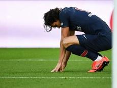 Cavani était sous traitement après le 6-1 face au Barça. AFP