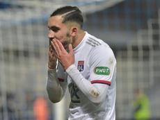 Cherki, la joya del Lyon, quiere jugar en el Real Madrid. AFP