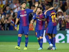 Panic at the Camp Nou: the front three, all injured. AFP