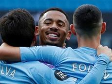 Gabriel Jesus marcou dois gols na conquista da Copa da Inglaterra de 2019. AFP