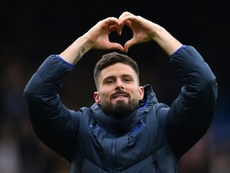 Olivier Giroud's time at Chelsea could be almost up. AFP