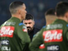 Gattuso no es el único que está en problemas en el Nápoles. AFP