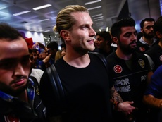 Karius cannot train with Liverpool. AFP