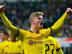 Haaland seguirá en el Borussia. AFP