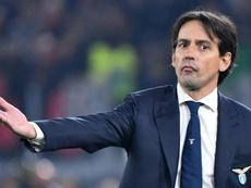 Inzaghi podría sentarse en el banquillo del PSG próximamente. AFP