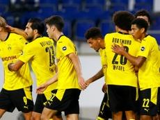 Primer día oficial y goleada del Borussia. AFP