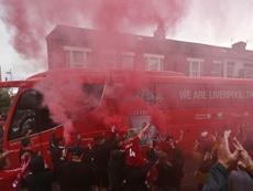Los fans vuelven a los estadios. AFP