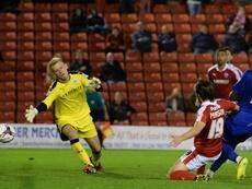 Adam Davies suena como posible refuerzo del Stoke City. AFP/Archivo