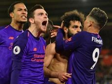 El Liverpool vuelve a ser el líder provisional de la Premier. AFP