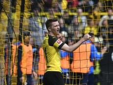 Reus fue el protagonista negativo al dejar con diez al Borussia. AFP