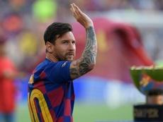 Messi no entró en la convocatoria ante el Betis. AFP