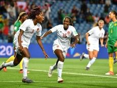 Kadeisha Buchanan firmó el único tanto del partido. AFP