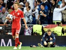 El Bayern camina cabizbajo tras la eliminación europea. AFP