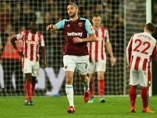El West Ham se acabó llevando un punto en el último suspiro. AFP