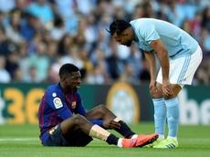 El Barcelona no quiere perder a Dembélé de nuevo por una recaída. AFP/Archivo