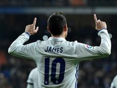 James quiere quedarse en el Real Madrid. AFP/Archivo