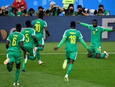 Senegal beat Poland in their first match of the World Cup. AFP